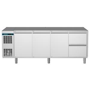 Koelwerkbank NordCap, CLM 650 4-7011, 3 deuren, 2 x 1/2 lades