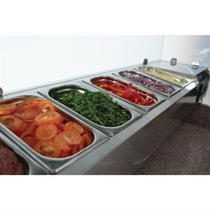 Gekoelde pizza/sandwich prepareercounter Polar, 368 liter, GN 1/4