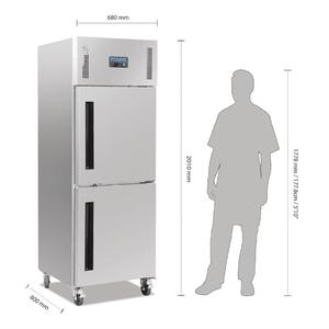 Vrieskast, Polar, gedeelde deur, 600 liter, GN 2/1
