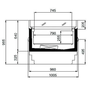 Koeleiland, NordCap, DIAMOND NT 2000, circulatiekoeling, glazen schuifdeksel