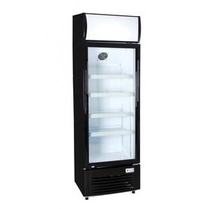 Glasdeur koelkast Exquisit  ELDC 300 XL, zwart