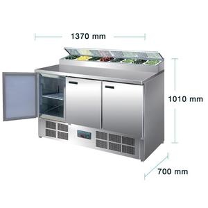 Saladette Polar, 3 deuren, 390 liter, GN 1/1 + GN 1/4