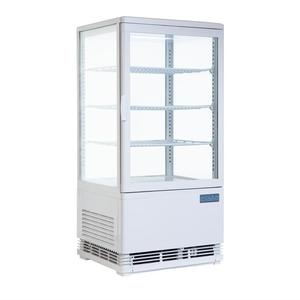 Gekoelde vitrine Polar, 68 liter, wit