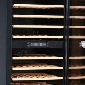 Glasdeur wijnkoeler Exquisit GCWK320, zwart