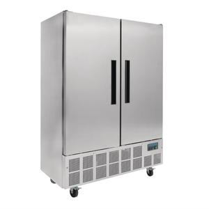 Koelkast Polar, Slimline, dubbele deur, 960 liter, RVS , GN 2/1