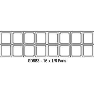 Saladette Polar, 2 deuren, 527 liter, 16 x GN 1/6