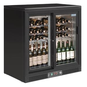 Wijnkoeler Polar. glazen schuifdeuren, 56 flessen