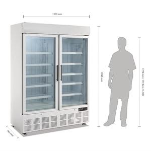 Vrieskast Polar, dubbele deuren, 920 liter, met lichtreclamebak