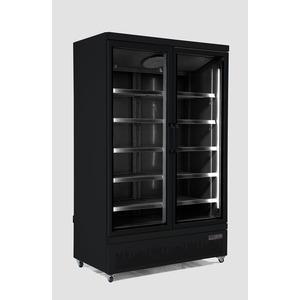 Koelkast, Combisteel, JDE-1000R BL, 2 glasdeuren, zwart