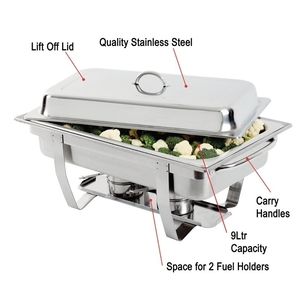 """Chafing dish """"Milan"""", Olympia, RVS, GN 1/2"""