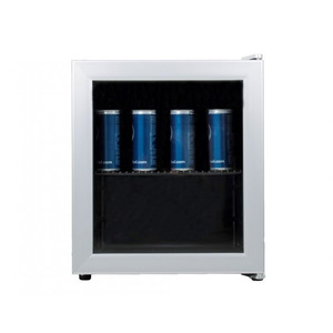 Glasdeur barkoeler Exquisit KB01-7G, zilver