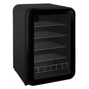 Barkoeler Exquisit KB110-RETROBLACK, glasdeur, zwart