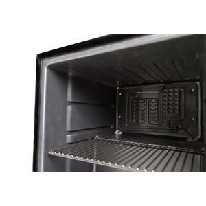 Mini-koelkast  Husky CKK50-CNS, glasdeur, RVS frame, 45,8 liter, zwart