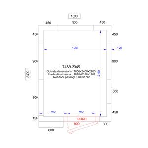 Koel/Vriescel Combisteel 1800 x 2400 x 2200 - 120 mm
