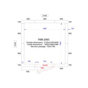 Koel/Vriescel Combisteel 2100 x 2100 x 2200 - 120 mm