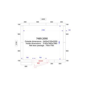 Koel/Vriescel Combisteel 2400 x 2100 x 2200 - 120 mm