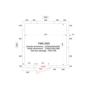 Koel/Vriescel Combisteel 2400 x 2400 x 2200 - 120 mm