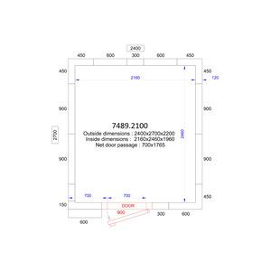 Koel/Vriescel Combisteel 2400 x 2700 x 2200 - 120 mm