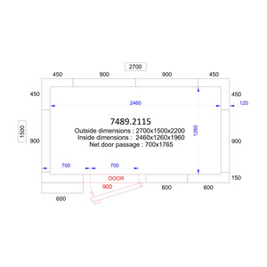 Koel/Vriescel Combisteel 2700 x 1500 x 2200 - 120 mm