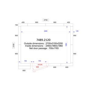 Koel/Vriescel Combisteel 2700 x 2100 x 2200 - 120 mm