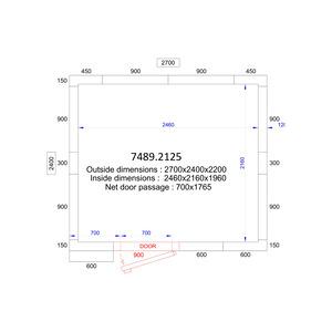 Koel/Vriescel Combisteel 2700 x 2400 x 2200 - 120 mm