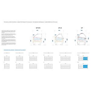 Roomijs vitrine, NordCap, MILLENNIUM SP 12+12 A, circulatiekoeling