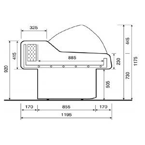 Viskoelbuffet NordCap, SAIGON 2500 ST, statische koeling, RVS