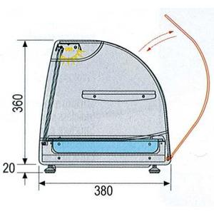 Tapaskoeler NordCap, TAPAS 6 GN-2, 6 x GN 1/3, 40 mm, glazen tussenetage