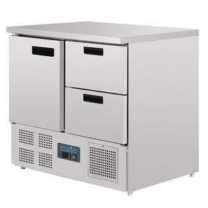 Koelwerkbank Polar, 1 deur en 2 laden, 240 liter, GN 1/1, 100 mm