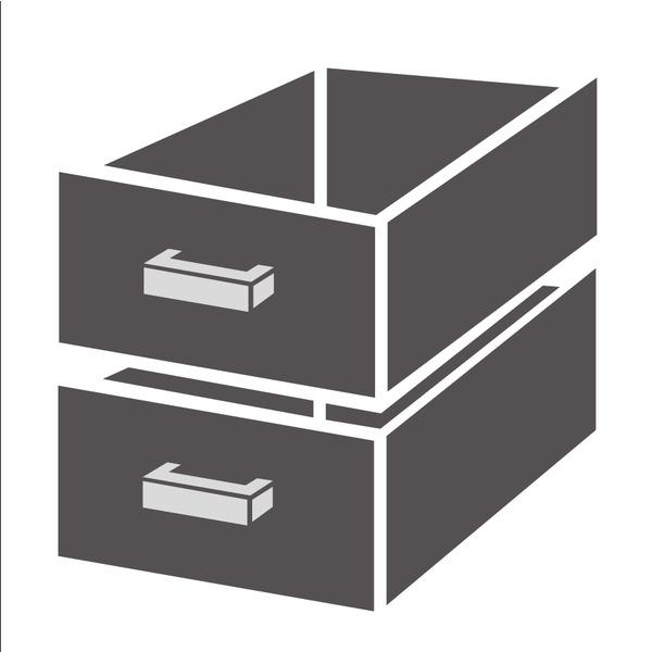 Ladenblok Combisteel 1/2 standard