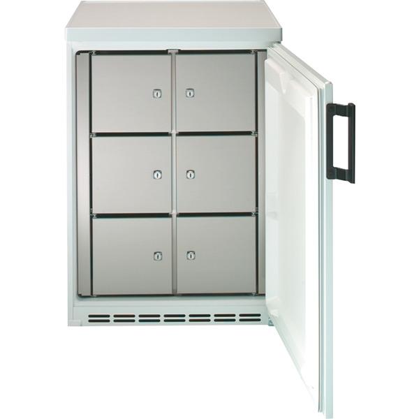 Gemeenschappelijke koelkast NordCap, 182-6 F U, statische koeling, 6 afsluitbare vakken