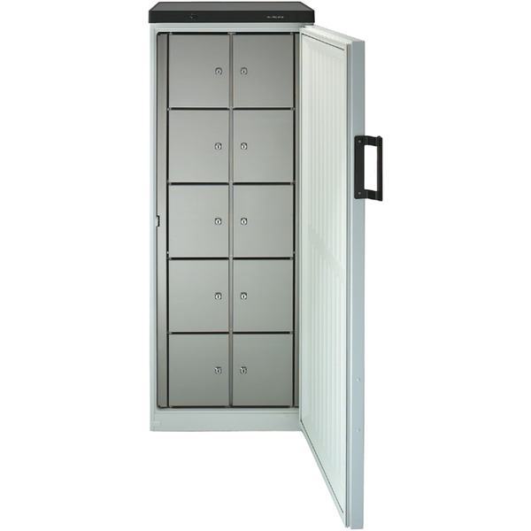 Gemeenschappelijke koelkast NordCap, 380-10 F, statische koeling, 10 afsluitbare vakken