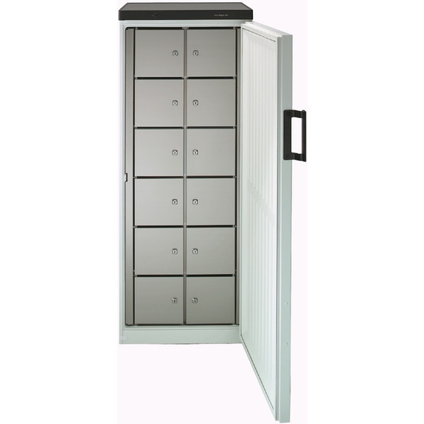 Gemeenschappelijke koelkast NordCap, 380-12 F, statische koeling, 12 afsluitbare vakken