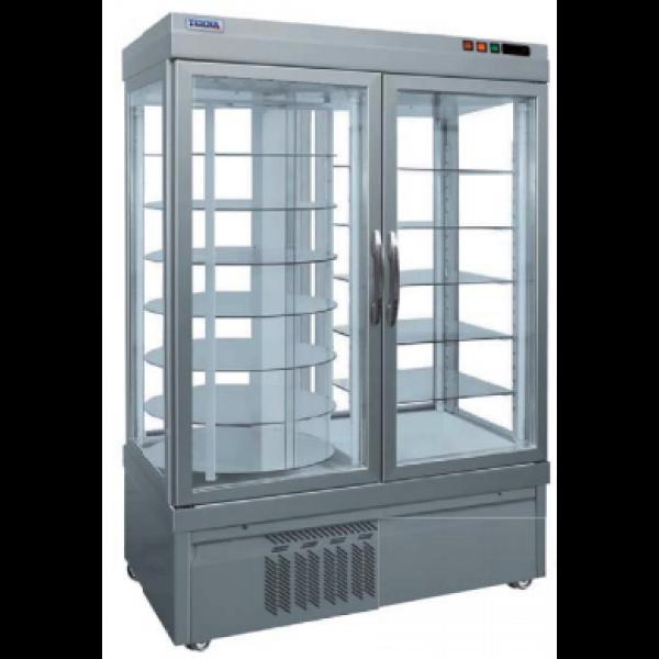 Display vrieskast Tekna, 7401 NFN, 4 glazen zijden, 7 roterende en 5 vaste glasplaten