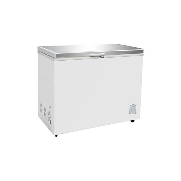 Vrieskist Combisteel, wit, RVS-deksel, 260 liter