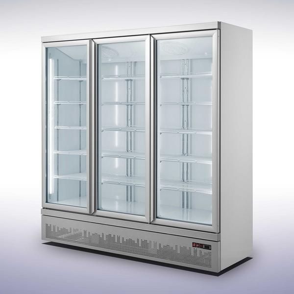 Koelkast Combisteel JDE-1530R, 3 glasdeuren, wit