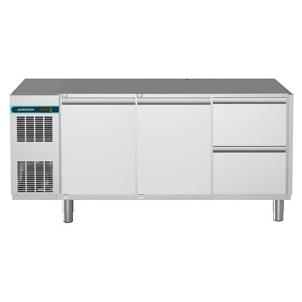 Koelwerkbank NordCap, CLM 700 3-7011, 2 deuren, 2 x 1/2 lades