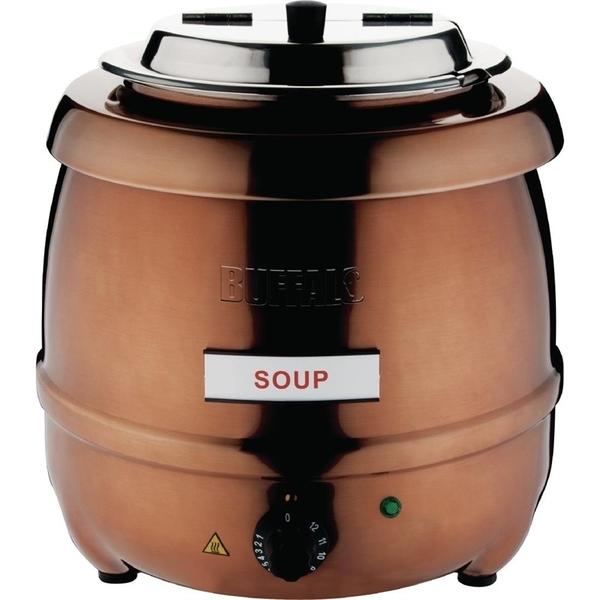 Soepketel, Buffalo, 10 liter, koperkleurig