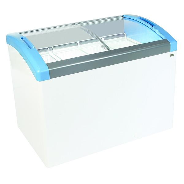 Koel- en vrieskist NordCap, FOCUS 131 LED, statische koeling, glazen schuifdeksel