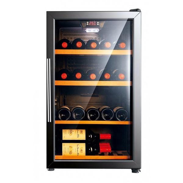 Glasdeur wijnkoeler Exquisit GCWK150, zwart