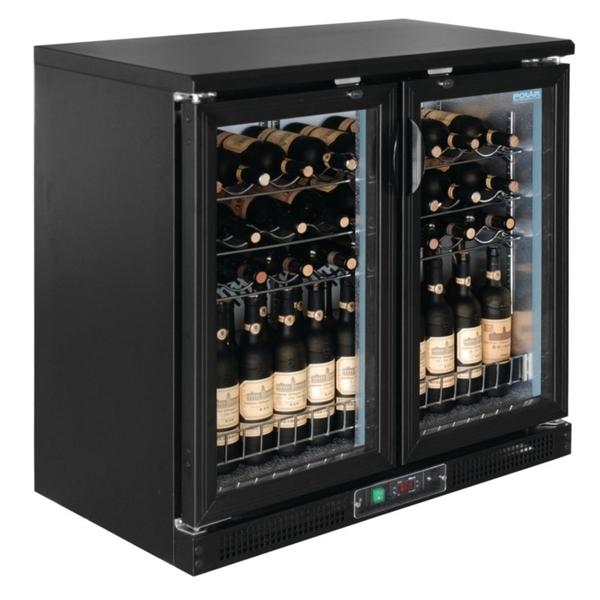 Wijnkoeler Polar, dubbele glasdeuren, 56 flessen