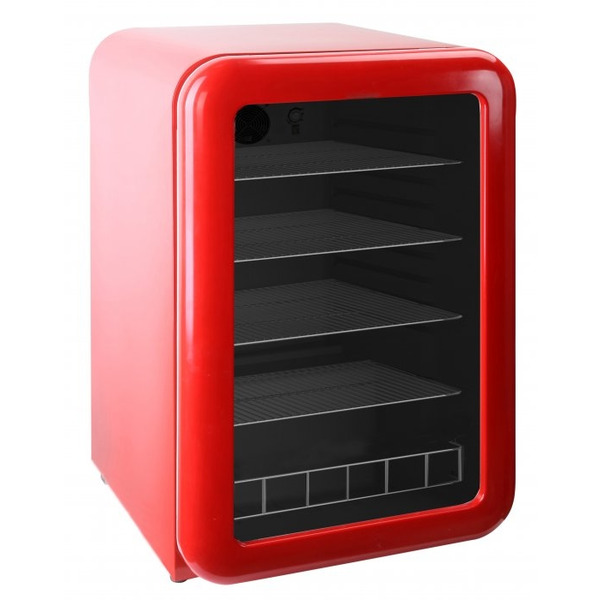 Barkoeler Exquisit KB110-RETROBLACK, glasdeur, rood