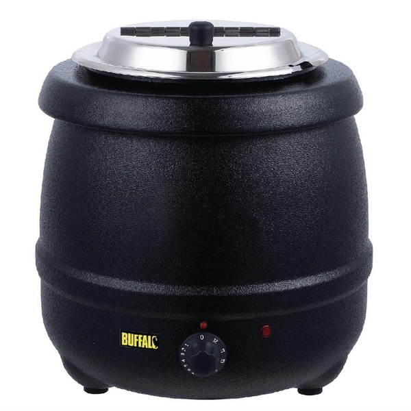 Soepketel, Buffalo, 10 liter, zwart
