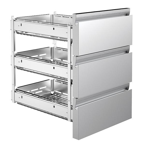 Lade 3 x 1/3, voor koelwerkbank Nordcap CL 650