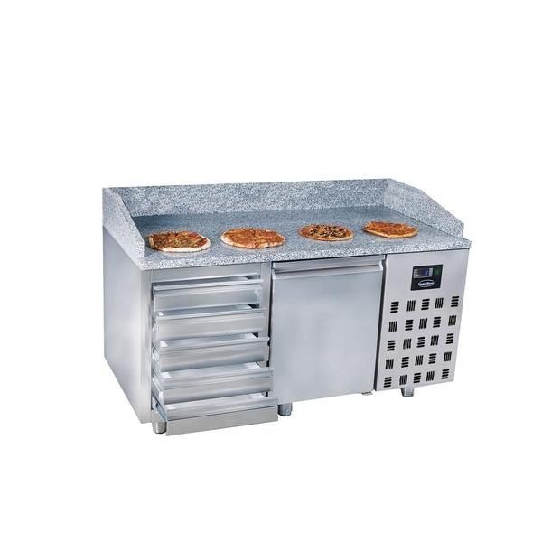 Pizzawerkbank Combisteel, 2 deuren 5 laden