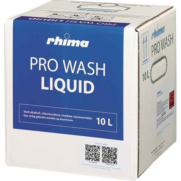 Pro Wash Liquid, vaatwasmiddel Rhima voor voorlader en doorschuifmachine