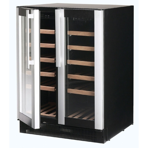 Wijnklimaatkast Nordcap, W 38 COMPACT, 2 glazen deuren, 2 temperatuurzones