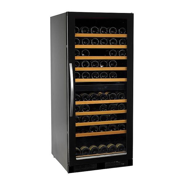 Wijnklimaatkast Nordcap, WK270-2, glasdeur, circulatiekoeling, 2 temperatuurzones